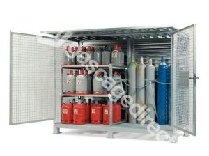 Large High Security Gas Cylinder Cages