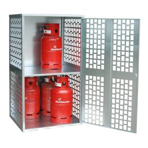 10 x 11kg Perforated Solid Gas Cylinder Cabinet