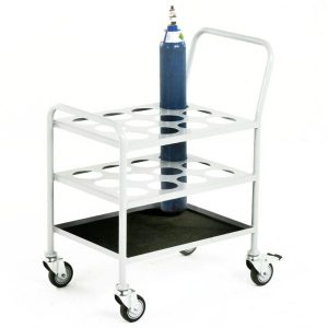 Medical Gas Cylinder Trolley - 12 Oxygen D/E