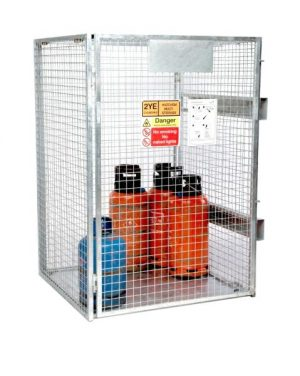 Folding Gas Cage with Forklift Skids
