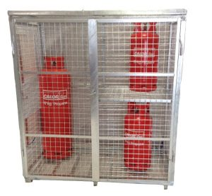 Folding Gas Cylinder Cage GC60