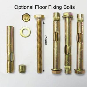 Gas Cylinder Cage: Optional Floor Fixing Bolts