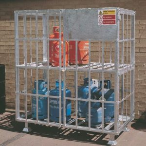 Locking Forecourt Gas Cage
