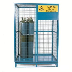 Gas Cage with Pallet Base