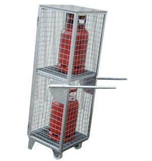 Mobile Cage with Handles - 11KG bottles